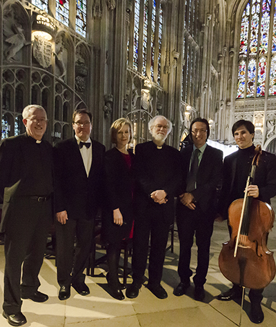 Stephen Cherry, Bruce Herman, Juliet Stevenson, Lord Rowan Williams, Makoto Fujimura, and Guy Johnston.