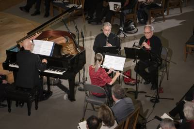 musicians perform Elegy in Goodson Chapel