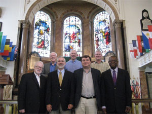 Planning team members met at Wesley's Chapel in London in August 2013.