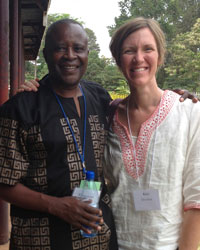Katongole with Kate Davelaar, CFR international programs coordinator