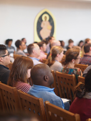 Incoming students attended orientation services in Goodson Chapel.