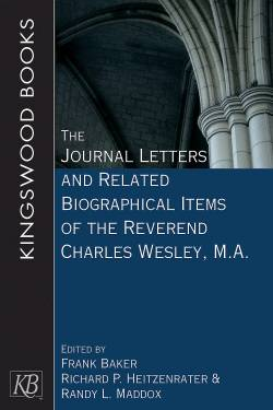 Cover image of church arches for new book titled The Journal Letters and Related Biographical Items of the Rev. Charles Wesley, M.A.