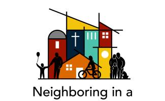 Neighboring theme logo showing stylized neighborhood design
