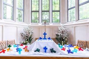 crosses on display