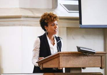 Rev. Chalice Overy Renders preaching in Goodson Chapel