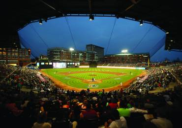 The famous Durham Bulls offers the best in AAA baseball and family fun. Photo by Brian Felming.