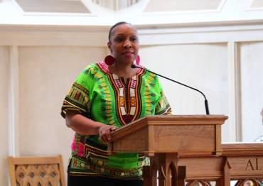 Speaker in Goodson Chapel