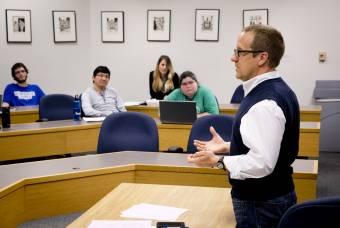 Ross Wagner teaches a class