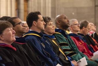New faculty watch opening convocation in Duke Chapel