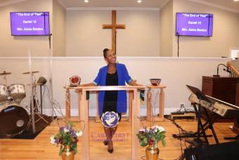 Black Student Preaching Sunday