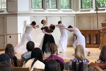 ballet dancers perform in Goodson Chapel