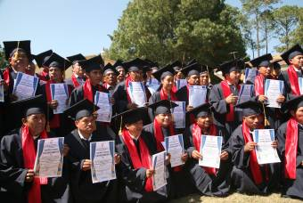Graduates of the program gathered after the graduation ceremony for a group photo.