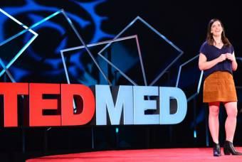 Kate Bowler giving TEDMED Talk