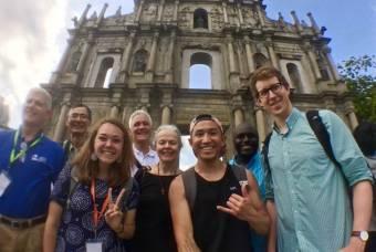 Students, faculty and staff at the Hong Kong Nari Forum