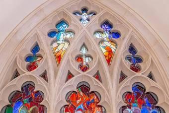 Pentecost Window in Westbrook Building