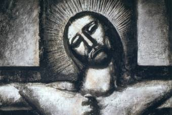 Georges Rouault Plate 57, 'Obedient Unto Death,' from the Miserere Series, 1927.