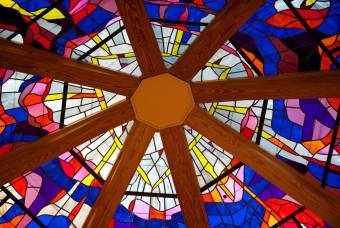 Stained glass ceiling of Vienna Baptist Church