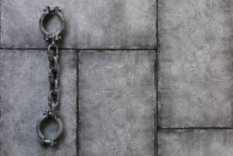 image of chains on wall
