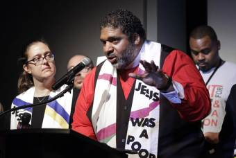 William Barber speaks to crowd as part of Poor People's Campaign