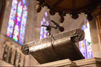 Image of pulpit in Duke Chapel
