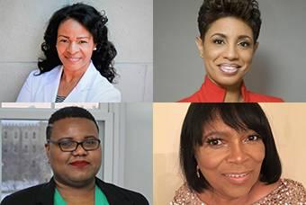 Headshots of 4 featured women