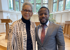Sankofa worship service with Rev. Cathy Watson and guest preacher alumnus Dr. Bankole Akinbinu of Baptist Grove in Raleigh.