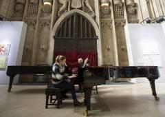 Jeremy Begbie and Cordelia Williams perform Messiaen's Vision de l'Amen at Kings College.