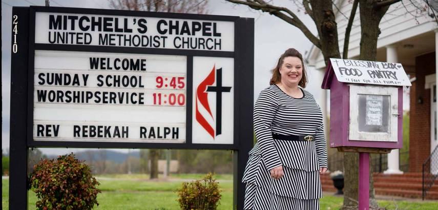 Rebekah Shuford Ralph at rural church